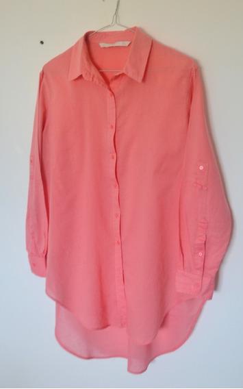 Camisa Zara Salmón