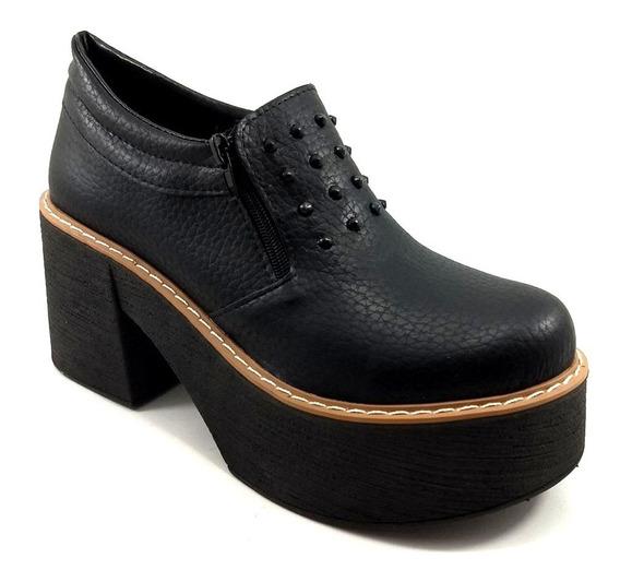 Zapato Abotinado Mujer Taco Tachas Plataforma 065 Ky West
