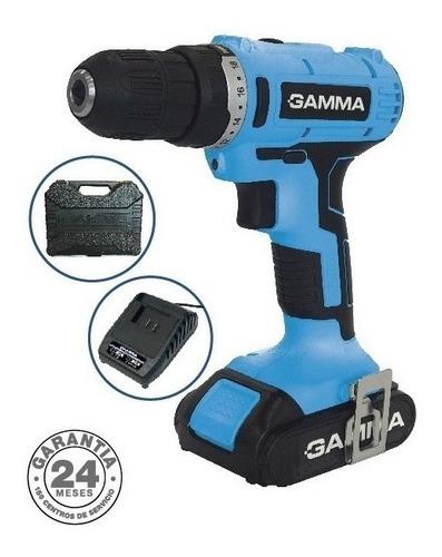 Imagen 1 de 6 de Taladro Atornillador Gamma G12103 21v 2 Baterias Cargador