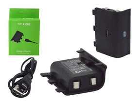 Bateria E Cabo Usb P/ Controle Xbox One Compativel.