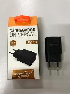 Carregador Universal 2x Usb 2.1a Geonave Preto