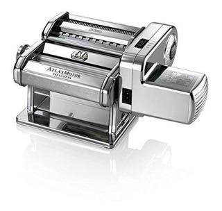 Marcato Atlas Pasta Machine With Motor Set, Silver, 180-mil