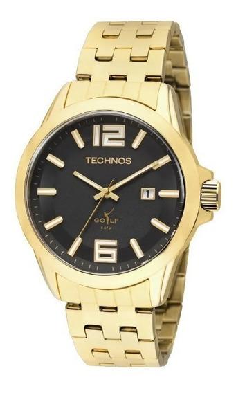 Relógio Technos Masculino 2115klv/4p Classic Golf Dourado