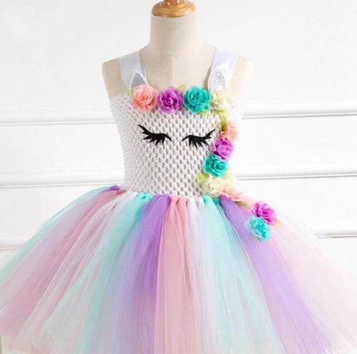 Fantasia Unicornio Infantil Com Tule Colorido Frete Gratis Mercado Livre