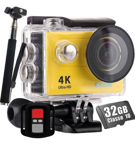 Câmera Esportiva Eken H9r Original 4k Wi-fi + 32gb + Bastão