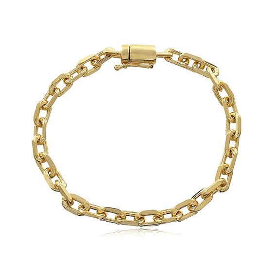 Pulseira Ouro 18k Cartier Oval 5,3g - Masculina