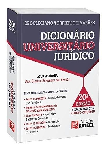 Dicionário Universitário Jurídico 20ª Edição 2016