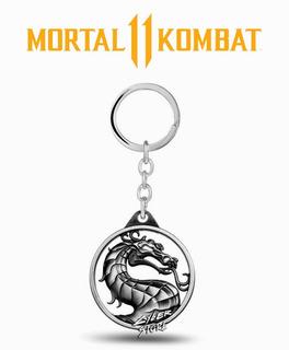 Chaveiro Mortal Kombat Dragão Liu Kang - Metal - Dupla Face