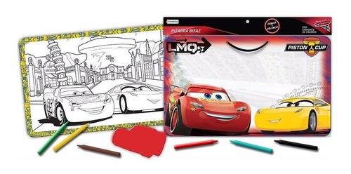 Pizarra Pizarron Bifaz Con Crayones Cars Disney Tapimovil