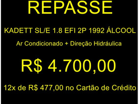 Chevrolet Kadett Sl/e 1.8 Efi 2p 1992