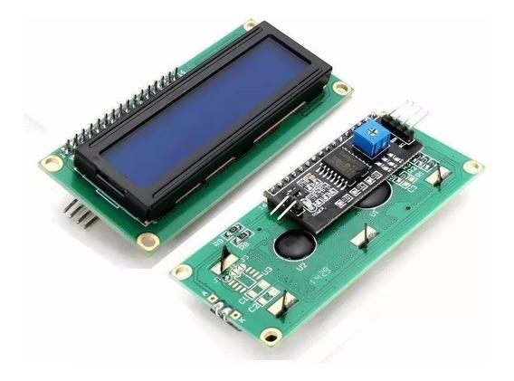 10 X Display Lcd 16x2 1602 Fundo Azul Com Modulo I2c Soldad