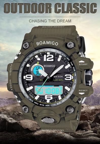 Relógio Masculino Militar Boamigo F5100 Anti Shock Esportivo