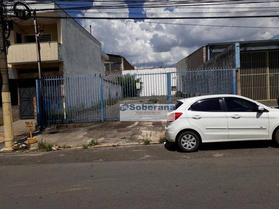 Terreno Comercial Para Locação, Jardim Do Trevo, Campinas. - Te0498