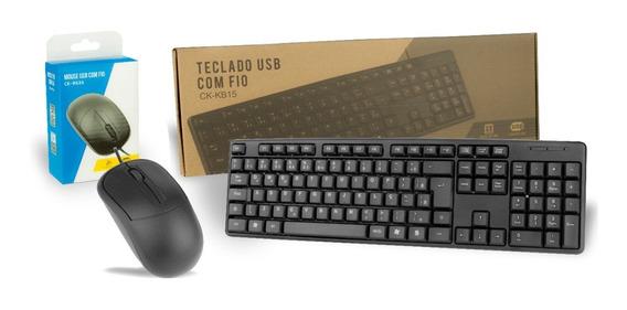 Kit Teclado + Mouse Padrão Escritório E Casa C3tech Promoção
