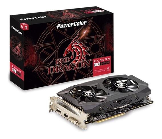 Placa De Vídeo Amd Radeon Rx 590 Red Dragon 8gb Powercolor.