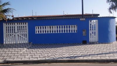 Sp Litoral , Casa 4 Dormitórios Em Mongaguá , Piscina .
