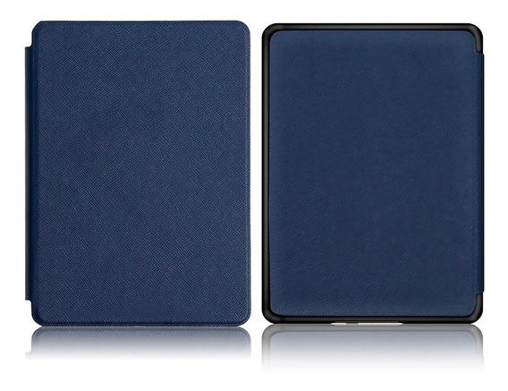 Capa Case Novo Kindle 10ª G. 2019 Azul Marinho- Fecho Magnético + Película E Caneta Touch