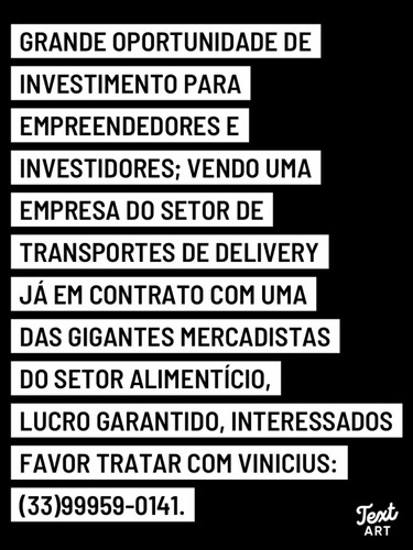 Imagem 1 de 1 de Vendo/passo Empresa Dd Transportes