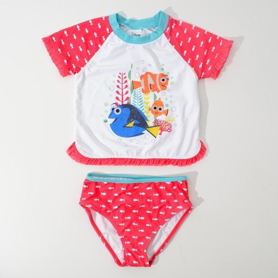 Conjunto Rashguard Procurando Dory Disney Store 5-6 Anos
