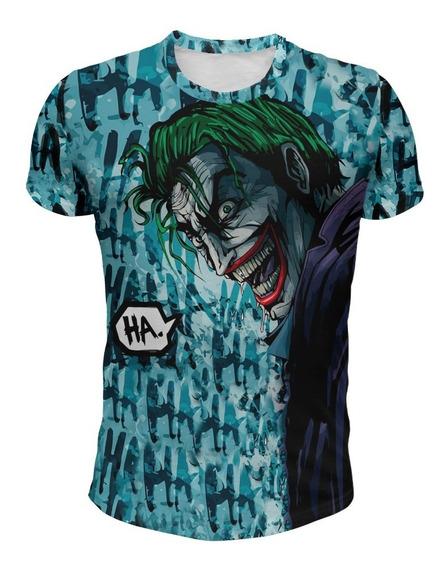 Remera Joker Comic Risa Celeste Mod 1