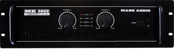 Amplificador Potência Mark Audio Mk4800 800rms Mk-4800 Mesa