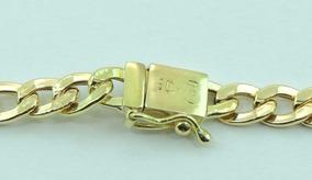 Pulseira Masculina Grumet Fecho Gaveta 25cm Em Ouro 18k
