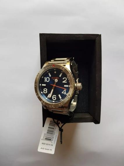 Relógio Masculino Pulso Nixon 46 Watch A916 1258 Blue Sunray