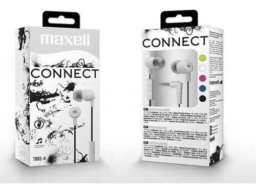 Audifono Maxell Con Microfono Connect In-345 Blanco Nuevo