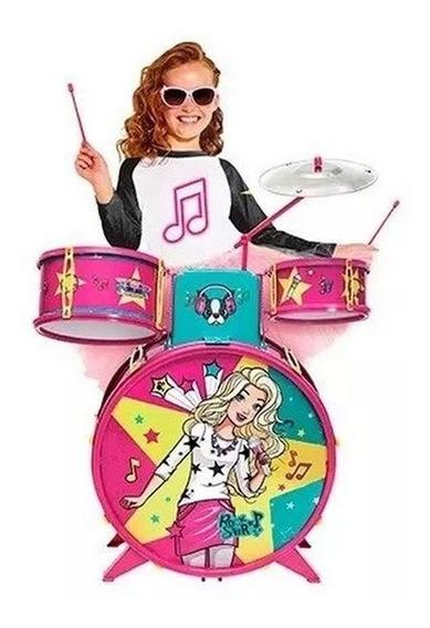 Bateria Fabulosa Infantil - Barbie - Linha Musical - Fun