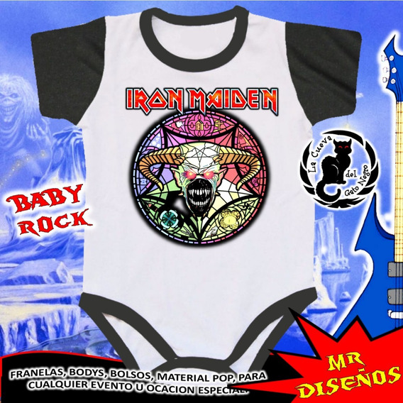 Bodys De Bebe Personalizados Iron Maiden - 1