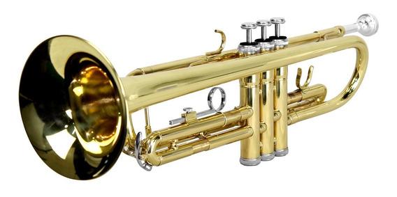 Trompete Laqueado Afinação Bb (si Bemol) + Estojo - Tander
