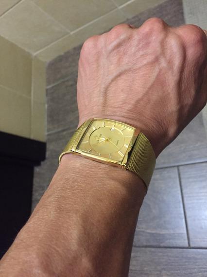 Relógio Masculino Quadrado Fino Original 4 Modelos + Brinde