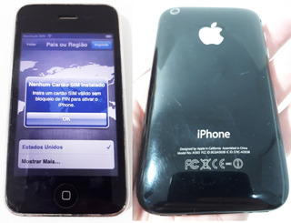 iPhone 3gs A1303 Original Preto Ligando ( Vendo No Estado )