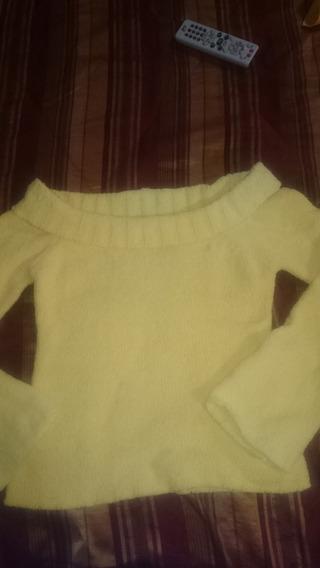 Sweter Dama Amarillo Cuello Ancho Talla L