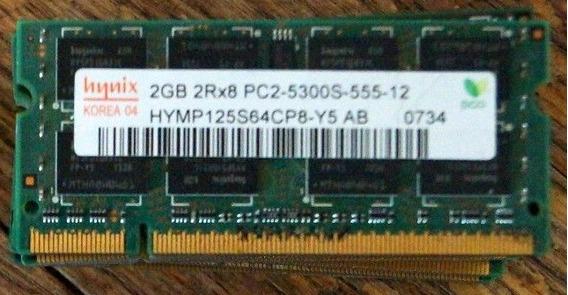 4gb Memoria Macbook Hynix Ddr 2 Pc2-5300s-555 200pin