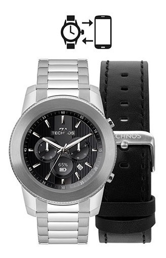 Smartwatch Technos M1aa/1p Connect Plus Prateado