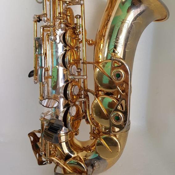 Sax Alto Borgani Special Edition Prata Com Bronze Original