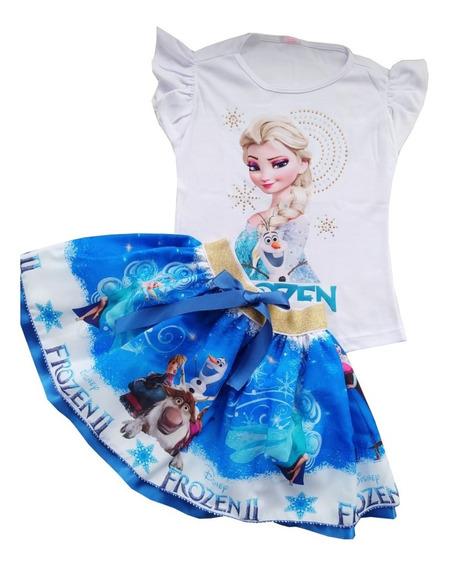 Vestido Para Niña Frozen Y Muchos Más De Dos Piezas