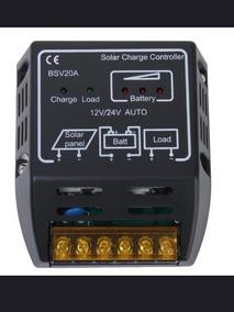 Controlador Carga Painel Solar 20a 12v 24v Automatico