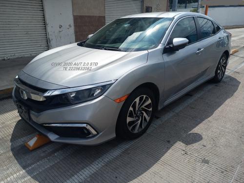Imagen 1 de 14 de Honda Civic 2020 Ex 4 Cil 2.0 Lts Sedan Manual Eng $ 67,600