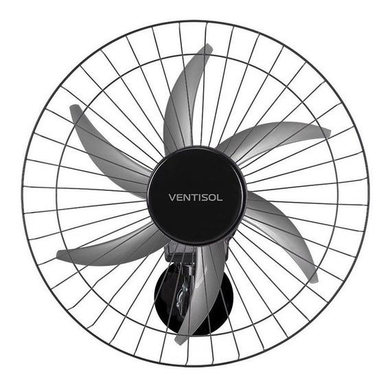 Ventilador de parede Ventisol Steel preto, 50cm de diâmetro 127V/220V