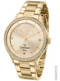Relógio Champion Dourado Feminino Cn29721x