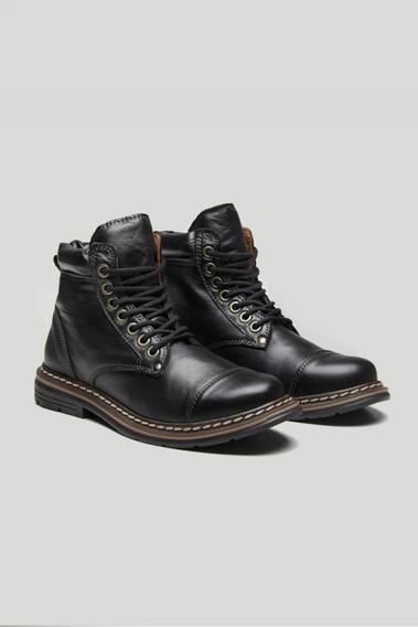Borcego Zapato Hombre De Cuero Con Cordones 1era Calidad