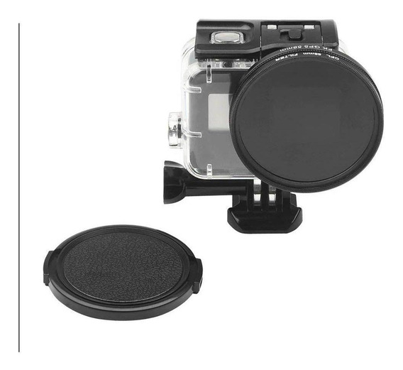 Filtro Polarizado Cpl 58mm Com Tampa Da Lente Para Gopro 5-7