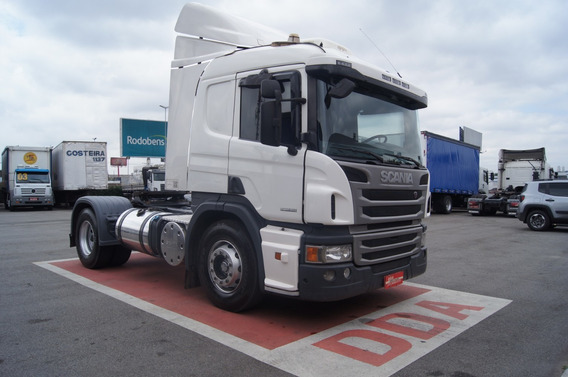 Scania P 360 4x2, Opticruise, Leito, Ano 2014