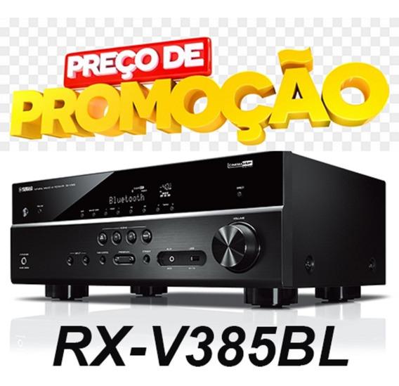 Receiver Rx V385 Yamaha Rx-v385bl 5.1ch Rx C/nf E Garantia