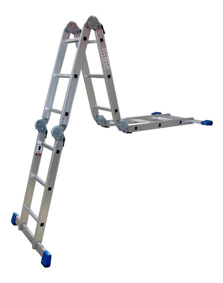 Escalera Multiposiciones Acero/aluminio Gris 3.54 Mts