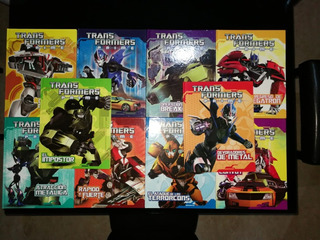 Transformers Prime Colección Completa Libros Y Miniaturas