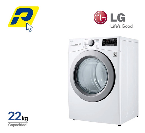 Imagen 1 de 9 de LG 22kg Secadora Electrica Carga Frontal - Smartthinq(wi-fi)