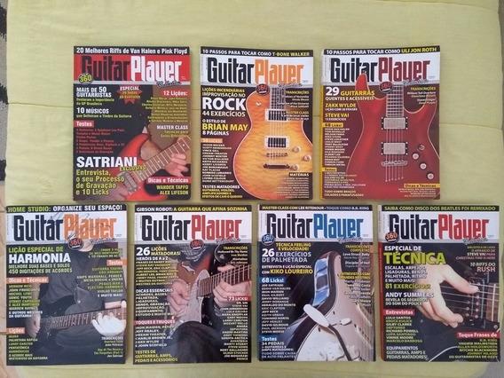 7 Revistas Guitar Player Brasil Encadernada - Imperdível!!!